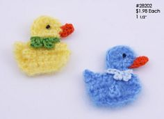 DIY Your Accessories with Trim and Embellishments Crochet Birds, Easter Crochet, Crochet Animals, Crochet Flowers, Crochet Toys, Crochet Baby, Knit Crochet, Crochet Applique Patterns Free, Crochet Motif