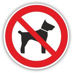 Verbotsschilder - Mitführen von Tieren verboten