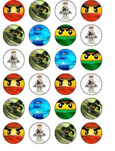 24 X NINJAGO BIRTHDAY WAFER PAPER CUP CAKE TOPPERS in Crafts, Cake Decorating | eBay