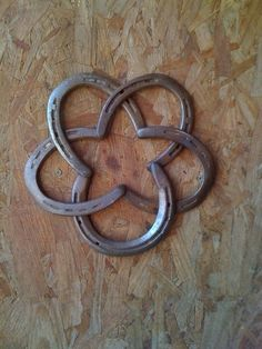 Ranch art:  old horseshoes...