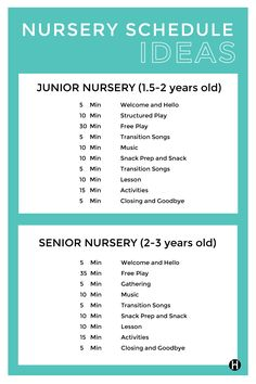 Wondering How To Fill Up Two Hours Of Nursery Time Check Out This Schedule