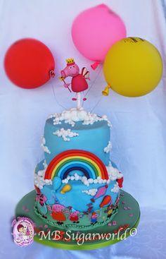 Rainbow princess Peppa Pig