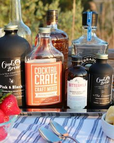 Summer Party Ideas and Decorations - Steer clear of the punch bowl and steal these tips for the easiest cocktail party ever.
