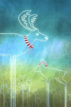Ausschnitt aus einer Illustration für eine Weihnachtskarte Poster, Neon Signs, Illustration, Christmas Cards, Neckline, Christmas, Illustrations, Posters, Character Illustration