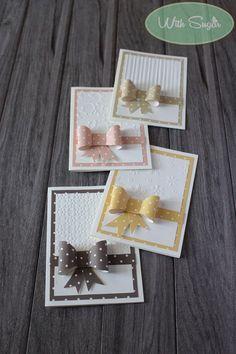 Biglietti di Auguri con Fiocchi a Pois - Handmade Cards