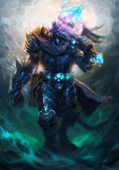 Jeu vidéo : Warcraft / Fan Art / character : draeneï by Songquijin    / http://www.blizz-art.com/illustration/3473/