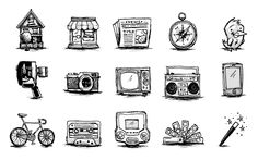 Vector Mill Sketchee Icons