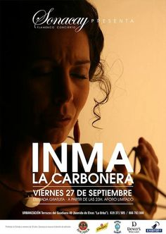 Inma la Carbonera, el viernes, en Sonacay