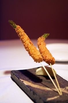 Megu Original Crispy Asparagus at Megu, Tribeca, NYC by @Malini Horiuchi