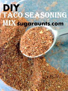 Sugar Aunts: DIY Taco Seasoning Mix