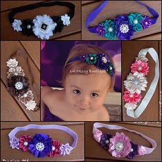.Symmetric beautiful baby headbands