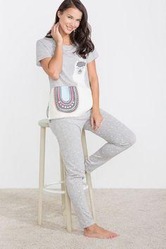 Womensecret Llama pyjama printed
