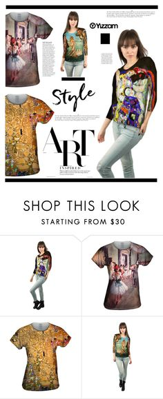 """Yizzam.com: Art Inspired"" by hamaly ❤ liked on Polyvore featuring Anja, Sandro, vintage, outfit, ootd, blouse and yizzam"