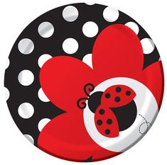 off Fancy Ladybug Birthday Party Supplies tableware! Shop for Fancy Ladybug Birthday Party Supplies, ladybug birthday decorations, invitations and more. Pottery Painting, Ceramic Painting, Rock Painting, Painted Pottery, Ladybug Party Supplies, Birthday Supplies, Ladybug 1st Birthdays, Party Plates, Dessert Plates