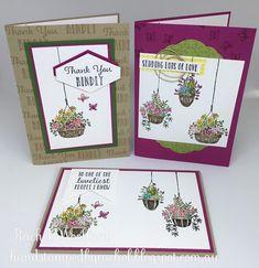 17 Ideas Flowers Spring Garden Stampin Up Hanging Baskets, Hanging Plants, Hanging Gardens, Flower Arrangements Simple, Mason Jar Flowers, Flower Doodles, Get Well Cards, Spring Garden, Flower Cards