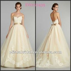 Ball Gown Sweetheart Satin Ribbon Belt Natural Waist Chapel Train Lace Tulle Wedding Dress 2012