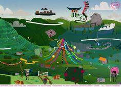 Tearaway Concept Art: Valleyfold | Media Molecule - Creators of LittleBigPlanet and Tearaway