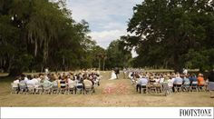 Southern Outdoor Ceremony Site in a beautiful field - by Footstone Photography www.footstonephotography.com