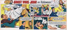 Vaseline Hair Tonic Halloween Ad - October 19, 1947 via Neato Coolville