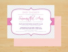 Baby Shower Invitations. Check out the website to order this look or create a custom order!