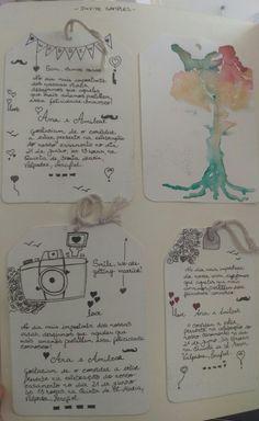 Hand made invitation samples // Ana Augusto