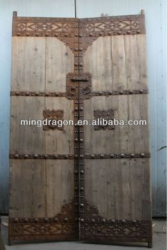 Chinese antique exterior solid recycle wood door