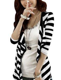Gotta love a good black & white stripe!