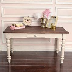 Shabby Cottage Chic Rustic French Style Table Desk Dining Table $695