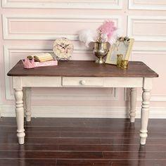 1940s black executive shabby chic desk by. Black Bedroom Furniture Sets. Home Design Ideas