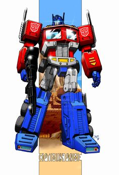 Autobot Leader Optimus Prime By *markerguru on deviantART Gi Joe, Geeky Wallpaper, Optimus Prime Transformers, Nemesis Prime, Hasbro Studios, Mileena, Vw Touran, Super Robot, Classic Cartoons