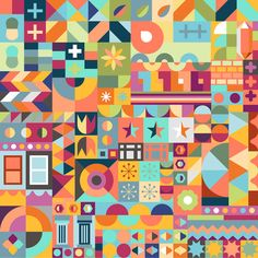 Pattern for Airbnb Hello LA. www.airbnbhellola.com #pattern #geometric
