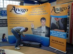 Ez Tube pop-up display and banner stand Vancouver Bc Canada, Fast Signs, Create A Company, Banner Stands, Trade Show, Pop Up, Tube, The Unit, Cleaning