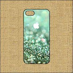 no.175 iphone 5 hard case-green glitter on Etsy, $0.20
