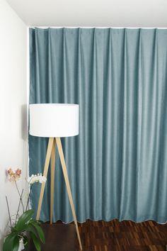 Dimmout-Nachtvorhang pastellblau auf Mass (Blackout-Vorhang) London, Curtains, Beige, Home Decor, Flat, Home Theaters, Night, Colors, Globe