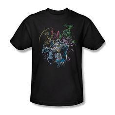 Batman Surrounded By Enemies Dc Comics Ladies Jr V-Neck Men L/S Tank Top T-shirt