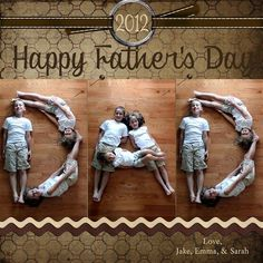 Cute photography idea for the kids to create for Father's Day!  Won't Dad just love it? | @kimbyers TheCelebrationShoppe.com