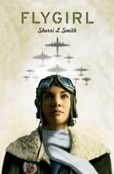 "Flygirl by Sherri L. Smith.  	During World War II, a light-skinned African American girl ""passes"" for white in order to join the Women Airforce Service Pilots."