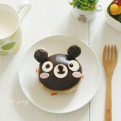 Hello, good morning friends (^__^)/ #breakfast #igms_id #donut #teddybear #charaben #kyaraben #kidsfood #kidsmeal #kawaiifood #cutefood #whati8today #buzzfeedfood #mutfakgram #onthetable #gastronogram #cutedonuts