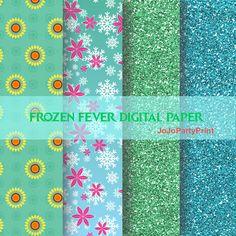 DIGITAL PAPER Frozen Fever Instant Download for by JoJoPartyPrint