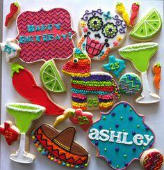 Fiesta party Cookies - HayleyCakes And Cookies