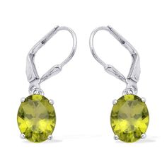 Liquidation Channel | Hebei Peridot Lever Back Earrings in Platinum Overlay Sterling Silver (Nickel Free)