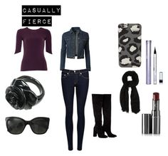 """""""Casually Fierce"""" by livvy-angel on Polyvore featuring LE3NO, Yufash, rag & bone/JEAN, Anouki, Chanel, Marc by Marc Jacobs, Oasis, Chantecaille and Blinc"""