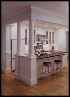 kitchen island with columns 1000 images about columns on half walls 5205