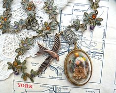 dried fall pendant assemblage necklace upcycle by lilyofthevally