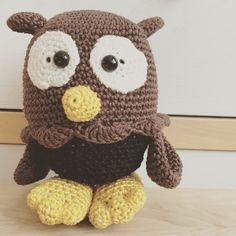 Hi, I am an owl... 100% cotton Dendennis  www.thoughtsbynina.nl