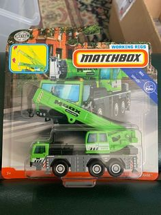 Matchbox Crane Green Truck MBX Service Working Rigs MBox | eBay Custom Hot Wheels, Hot Wheels Cars, Model Trains Ho Scale, Matchbox Cars, Jeep Truck, Toy Trucks, Retro Toys, Rigs, Diecast