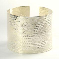 Silver cuff #Etsy
