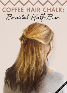 A little bit of color without the commitment? Hair chalk is the way to go! This coffee colored hair chalk (L'Oréal Professionnel Coffee Break) and this braided half bun tutorial is simply too cute! Learn how to do it and try it out!