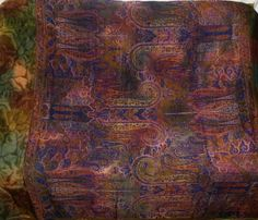 Impressive Vintage Floral Leafs 100% Pure Real Silk Fabric Sari Saree Flowers