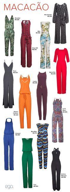(PG) Moda Macacão … Diy Fashion, Ideias Fashion, Fashion Looks, Fashion Outfits, Womens Fashion, Mode Style, Playsuits, Jumpsuits For Women, Plus Size Fashion